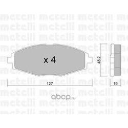 Комплект тормозных колодок, дисковый тормоз (Metelli) 2202930