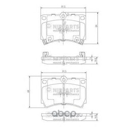 Комплект тормозных колодок, дисковый тормоз (Nipparts) J3603036