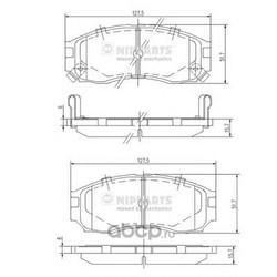 Колодки тормозные, комплект, передние (Nipparts) J3605030