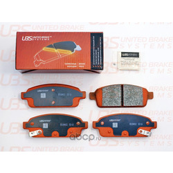Колодки тормозные дисковые   зад   (UBS) B1104012