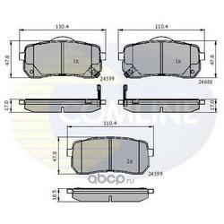 Комплект тормозных колодок, дисковый тормоз (Comline) CBP31675