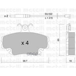 Комплект тормозных колодок, дисковый тормоз (Metelli) 2201200K