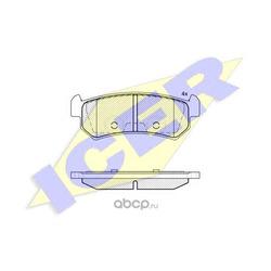 Комплект тормозных колодок, дисковый тормоз (Icer) 181727