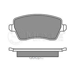 Комплект тормозных колодок, дисковый тормоз (Meyle) 0252440317W