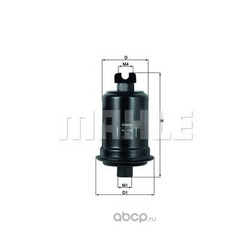 Топливный фильтр (Mahle/Knecht) KL128