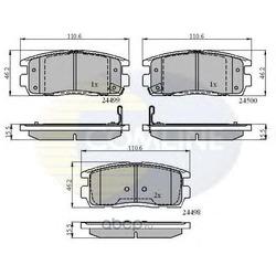 Комплект тормозных колодок, дисковый тормоз (Comline) CBP31580