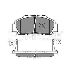 Комплект тормозных колодок, дисковый тормоз (Meyle) 0252165118W