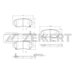Колодки торм. диск. перед. Mazda CX-5 (KE) 11- (Zekkert) BS1000