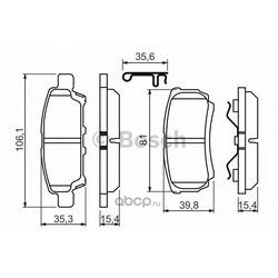 Комплект тормозных колодок, дисковый тормоз (Bosch) 0986494502