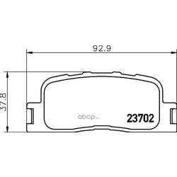 Комплект тормозных колодок, дисковый тормоз (Hella) 8DB355027861