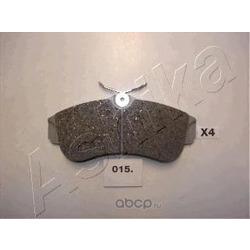 Колодки тормозные дисковые передние, комплект (Ashika) 5000015