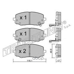 Комплект тормозных колодок, дисковый тормоз (Trusting) 9300