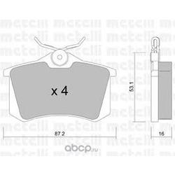 Колодки тормозные дисковые задние, комплект (Metelli) 2201002