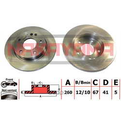 Диск тормозной передний (NAKAYAMA) Q5084