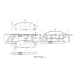 Колодки торм. диск. перед Nissan Navara (D40M) 05- Pathfinder (R51M) 05- (Zekkert) BS1226