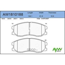 Колодки тормозные передние (AYWIparts) AW1810188