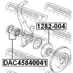 Подшипник ступичный передний (Febest) DAC45840041