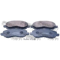 """Колодки тормозные дисковые, комплект """"COTEC (Febest) 0401EAF"""