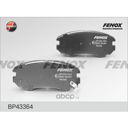 Комплект тормозных колодок, дисковый тормоз (FENOX) BP43364