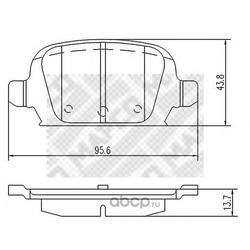 Комплект тормозных колодок, дисковый тормоз (Mapco) 6711