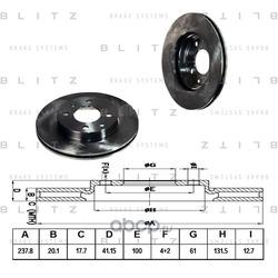 Диск тормозной (Blitz) BS0108