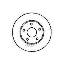 Тормозной диск (Jurid) 561549JC