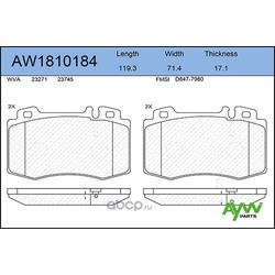 Колодки тормозные передние (AYWIparts) AW1810184