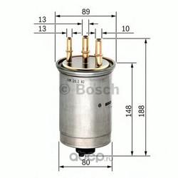 Фильтр топливный Bosch Ford Tourneo Connect 1.8 (Bosch) 0450906508