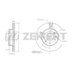 Диск.торм.перед. Hyundai i10 I II 07- Kia Picanto I II 04- (Zekkert) BS5485