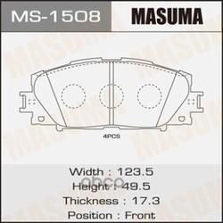 Колодки тормозные (Masuma) MS1508