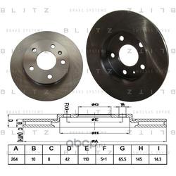 Диск тормозной (Blitz) BS0159