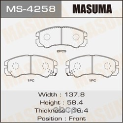 Колодки тормозные (Masuma) MS4258