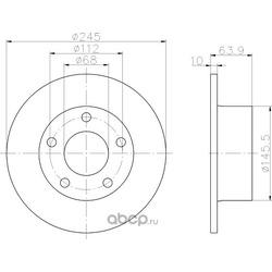 Тормозной диск (Hella) 8DD355102801