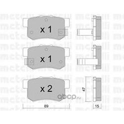 Комплект тормозных колодок, дисковый тормоз (Metelli) 2201730