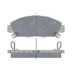 Колодки торм.FR (SCT) SP203