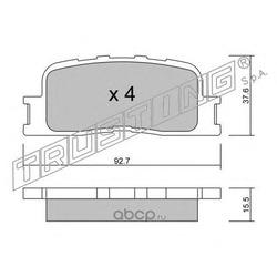Комплект тормозных колодок, дисковый тормоз (Trusting) 7690