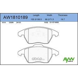 Колодки тормозные передние (AYWIparts) AW1810189