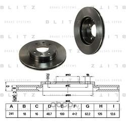 Диск тормозной (Blitz) BS0230