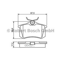 Колодки тормозные дисковые, комплект (Bosch) 0986461769