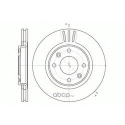 Тормозной диск (Remsa) 660310