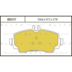 Колодки тормозные дисковые (Blitz) BB0197