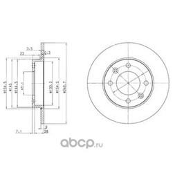 Тормозной диск (Delphi) BG3653