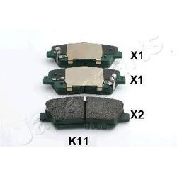 Комплект тормозных колодок, дисковый тормоз (Japanparts) PPK11AF