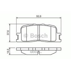 КОЛОДКИ ДИСКОВЫЕ (Bosch) 0986494359