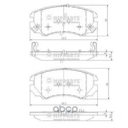 Комплект тормозных колодок, дисковый тормоз (Nipparts) J3600541
