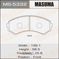 Колодки тормозные (Masuma) MS5332