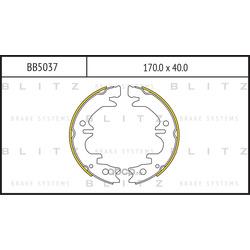 Колодки тормозные барабанные (Blitz) BB5037