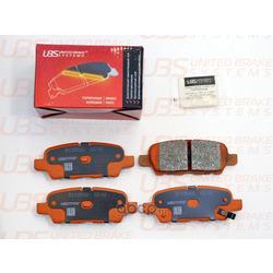 Колодки тормозные дисковые | зад | (UBS) B1105002