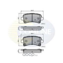 Комплект тормозных колодок, дисковый тормоз (Comline) CBP31795