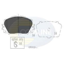 Колодки тормозные, комплект, передние (Comline) CBP06014